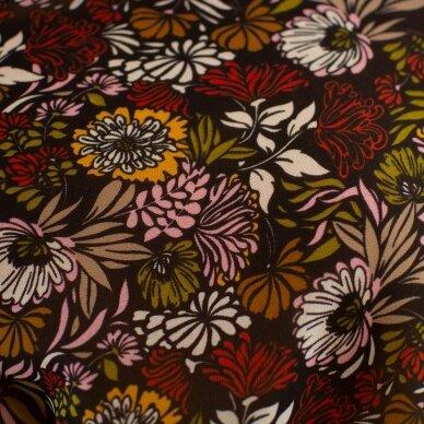 Krepinė gėlėta VALENTINO viskozė 5