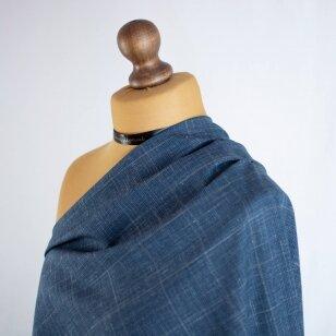 Mėlyna PIACENZA vilnelė su linu ir šilku