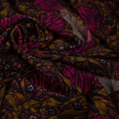 Tamsių gėlių VALENTINO šilkas 2