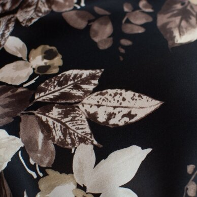 Tamsus rusvų gėlių ETRO šilkas 6