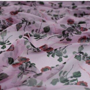 Valentino šifoninis rožių šilkas