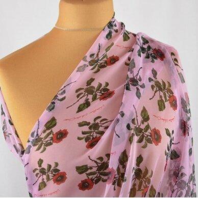 Valentino šifoninis rožių šilkas 4