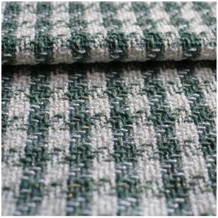 Žaliai kreminis Chanel tipo audinys