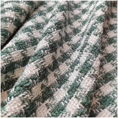 Žaliai kreminis Chanel tipo audinys 4