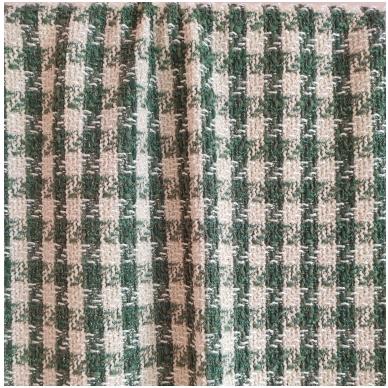 Žaliai kreminis Chanel tipo audinys 6